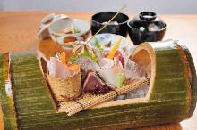 Assorted sashimi