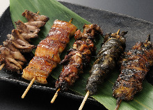 Grilled fish skewer