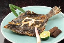 Grilled pufferfish milt