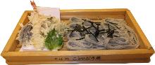 Tempura zaru buckwheat noodles