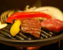 特選山形牛イチボ肉の鉄板焼き