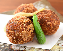 Beef and potato croquette