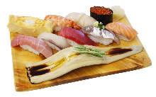 Assorted nigiri sushi, 10 kinds