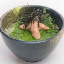 Mentaiko chazuke (marinated cod roe and rice with tea)