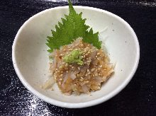 Shark cartilage with pickled plum