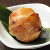 Rice ball wrapped with pork flavored with soy sauce