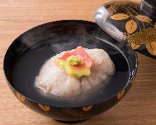 Lotus root manju (steamed bun)