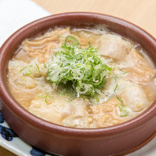 Miso simmered beef offal