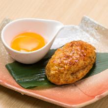 """Teriyaki """"tsukune"""" meatballs"""