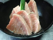 Premium fatty tuna and Japanese leek steak