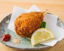 Deep-fried crab claw