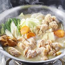 十勝鶏のコラーゲン白湯鍋