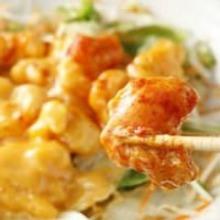 Stir-fried shrimp with mayonnaise