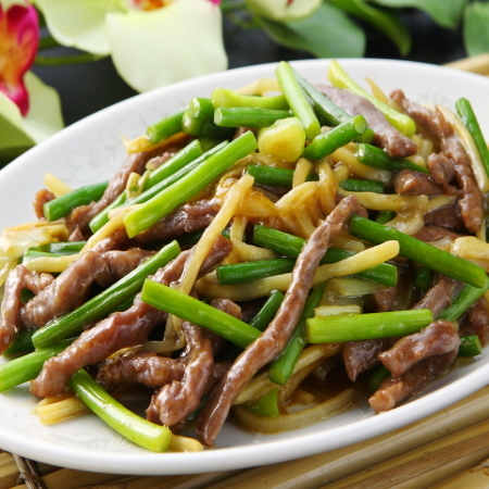 ... beef and garlic shoot stir fry beef and garlic shoots stir fried with