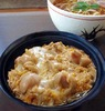 """Oyako"" Chicken & Eggs on Rice Bowl with Buckwheat Noodles Set Meal"