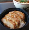 Katsu-Don (cooked fried pork and egg on rice) with Buckwheat Noodles Set Meal
