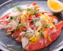 Marinated salmon