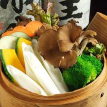 蒸し京野菜のバーニャカウダ