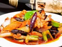 Sichuan-style eggplant stir-fry