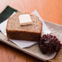 Ogura toast (toast with red bean paste)