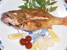 Lightly-dried rosy sea bass