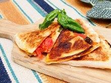 Tomato and mozzarella cheese pizza