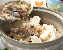 Gomoku scorched rice