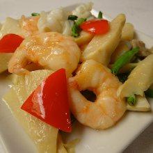 Salty shrimp stir-fry