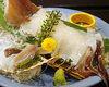 Live squid sugata-zukuri (sliced sashimi served maintaining the look of the whole squid)