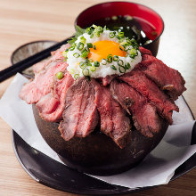 Roast beef rice bowl