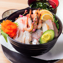 Seafood rice bowl of the day