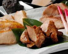 Charcoal grilled pork