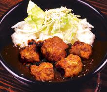 Fried food curry