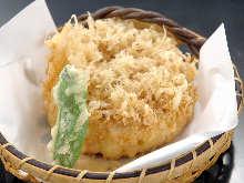 Mixed shrimp and vegetable tempura