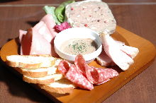 Assorted meat appetizers