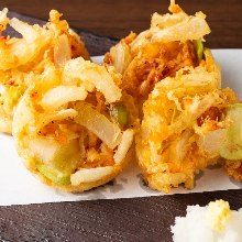 Mixed tempura of sakura shrimp