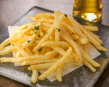French fries topped with butter