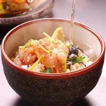 Tai chazuke (sea bream and rice with tea)
