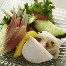 Assorted seasonal vegetables