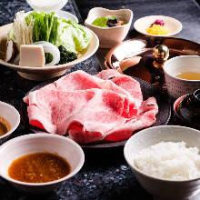 Beef shabu-shabu set