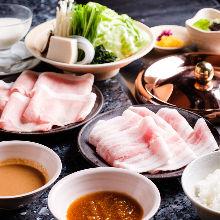 Pork shabu-shabu set