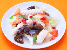 Stir-fried celery and squid
