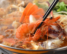 Mala Chinese-style hotpot with seafood