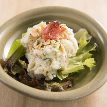 Cod roe potato salad