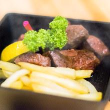 Beef heart steak