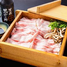 Steamed pork, pork shabu-shabu
