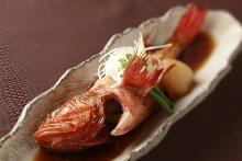 Seasonal simmered fish