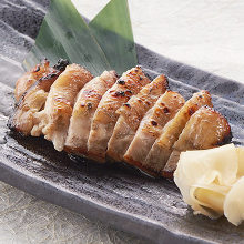 Grilled chicken marinated in miso