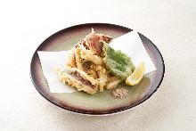 Dried squid tempura