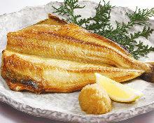 Charcoal grilled Atka mackerel